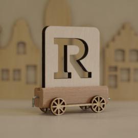 R | Houten lettertrein
