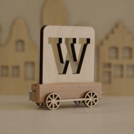 W | Houten lettertrein
