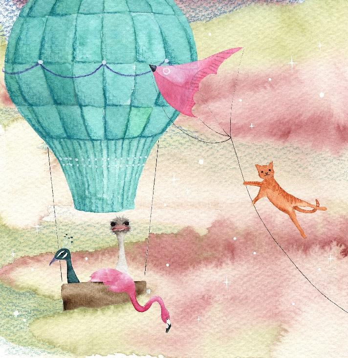 Luchtballon   Losse afbeelding