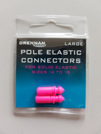Drennan pole elastic connectors