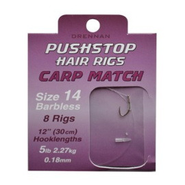 Drennan pushstop carp match hair rigs