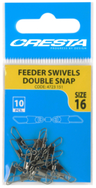 Cresta feeder swivels double snap size 16