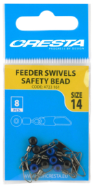Cresta feeder swivels safety beads size 12