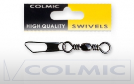 Colmic  Barrel swivel met safety snap