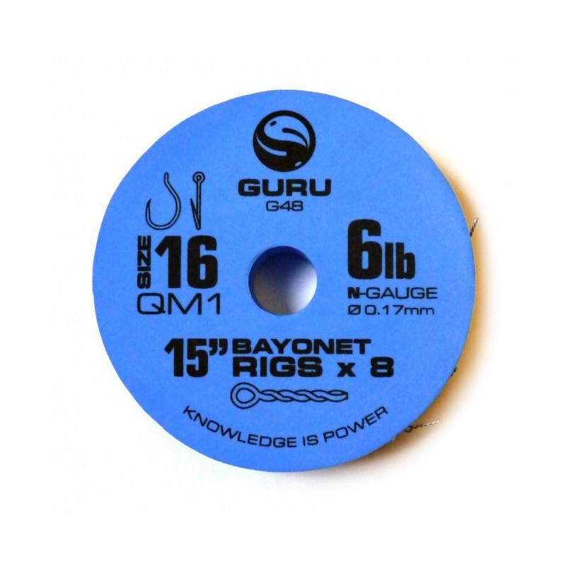 Guru 15''QM1 bayonet hair rigs