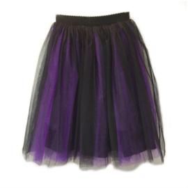 Tule rok zwart-paars