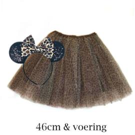Luipaard tutu rokje met Minnie Mouse oren