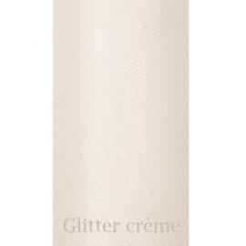 Creme glitter tule 9m