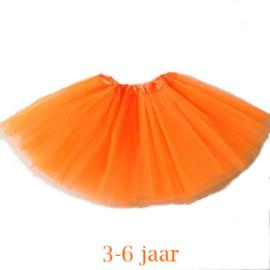 Oranje tutu kind 30cm