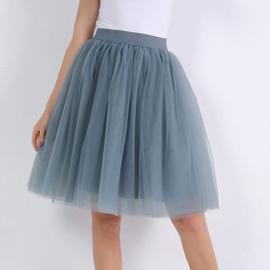 B-keus Grijsblauwe tule rok 60cm
