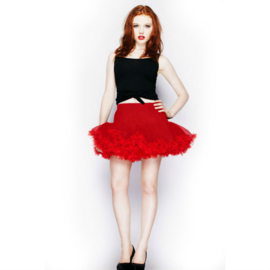 Korte petticoat rood