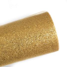 Gouden glitter tule