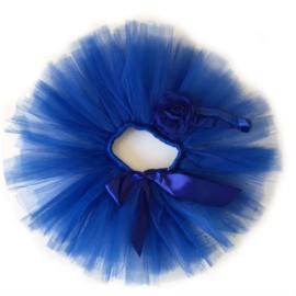 Blauwe baby tutu & haarband
