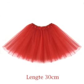 Tutu rood kind 30cm