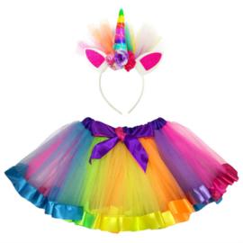 Eenhoorn regenboog Tutu meisje