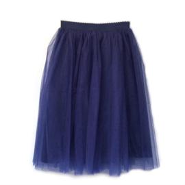 Tule rok donkerblauw