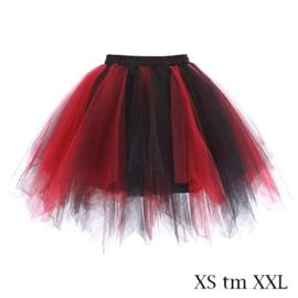 Super tutu rood-zwart