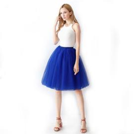 Tule rok kobaltblauw