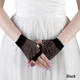 Zwarte open handschoentjes