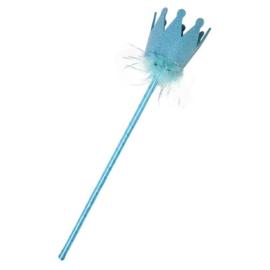 Blauwe frozen staf
