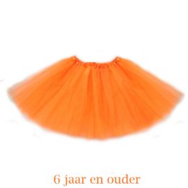 Oranje tutu meisje 36cm