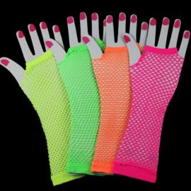 Lange neon net handschoenen