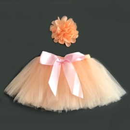 Zacht oranje baby tutu & haarband