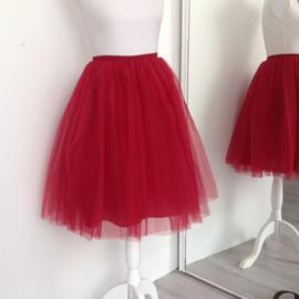 Tule rok bordeaux rood