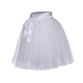 Tule rok meisje wit 50cm