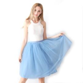 Tule rok lichtblauw