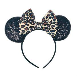 Luipaard Minnie Mouse oren diadeem