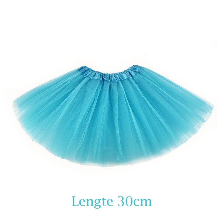 Aquablauwe tutu kind 30cm