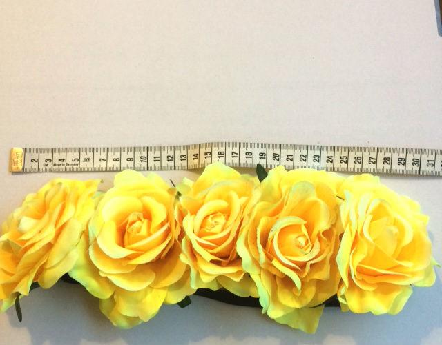 Bloemen haarband lichtrood
