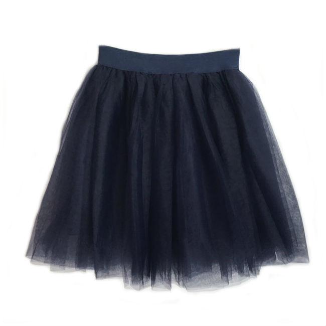 Donkerblauwe tule rok 53cm