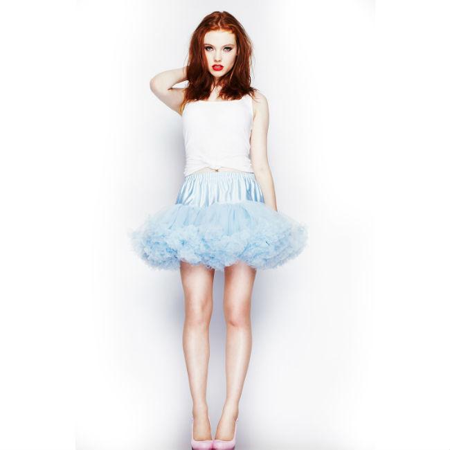 Korte petticoat Lichtblauw