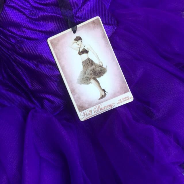Korte petticoat paars