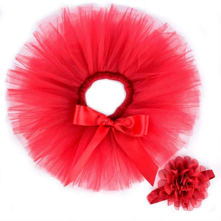 Rode baby tutu & haarband