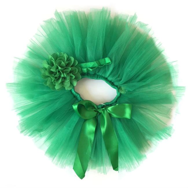Groene baby tutu & haarband
