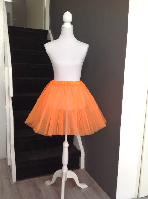 Oranje tutu dames