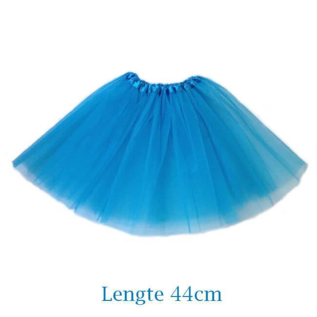 Aqua blauwe tutu rokje