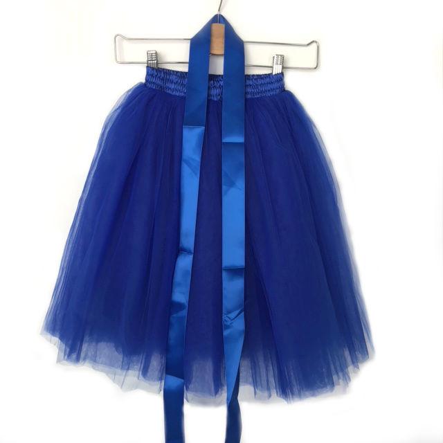 Tule rok meisje blauw 50cm