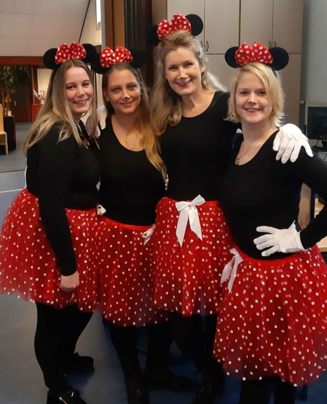 Minnie Mouse tutu dames 45cm
