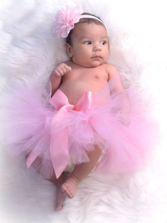 Oudroze baby tutu & haarband