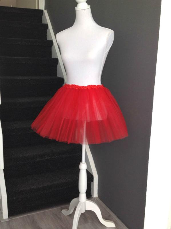 Rode tutu meisje 36cm