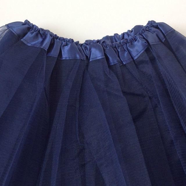 Donkerblauwe tutu kind 30cm