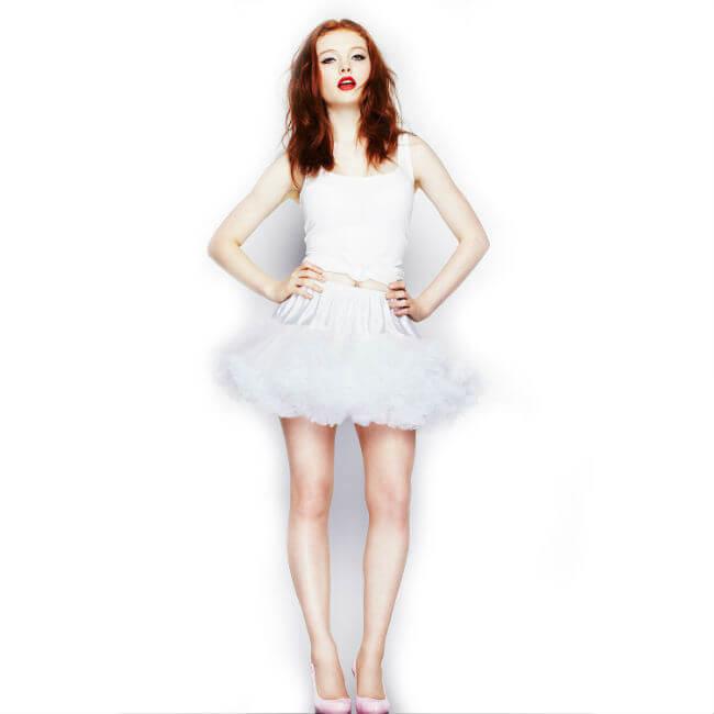 Korte petticoat wit