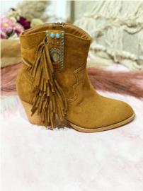 Boots Fringe Camel