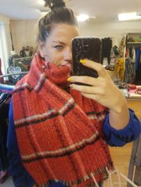 Sjaal geruit Rood