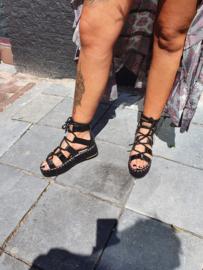 Sandalen Gladiator Zwart