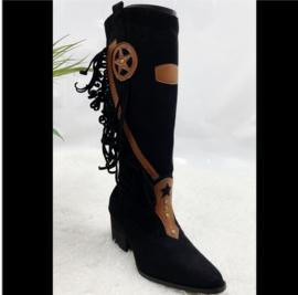 Boho boots franjes💃 Zwart
